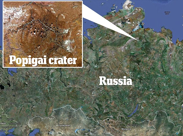In the money: The crater, in eastern Siberia, has been known about since the 1970s, but the Kremlin kept it a secret to exploit its already rich reserves of the precious stone