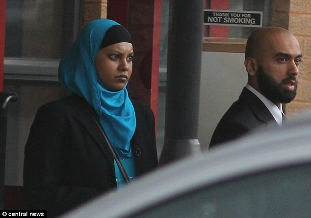 Pic shows Halima Khatun with Mohammed Kayes Hussain, leaving crown court