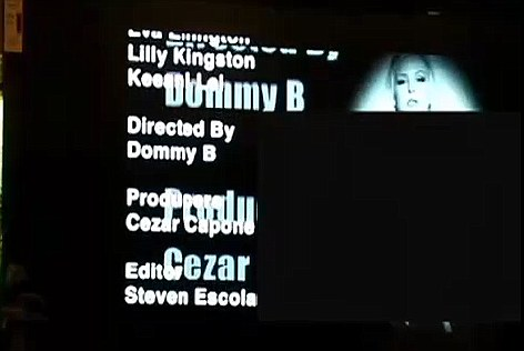 The closing credits from the pornographic film which the cartoon cut to for six minutes