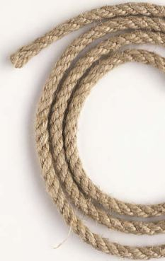 A picture of a coiled rope