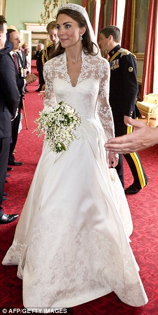 Kate Middleton after her wedding to Britain's Prince William