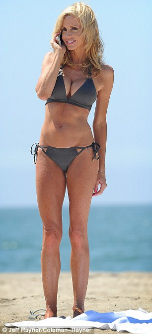 In great shape: The reality star has little fat on her figure and seemed more than happy to pose just in her bikini