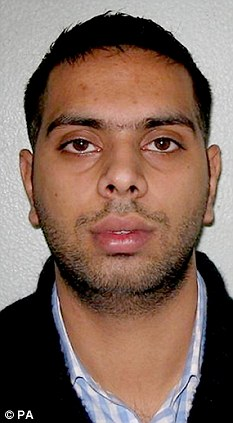 Suspect: Usman Sethi, 23, who is accused of stealing more than 250 iPhone 5s today