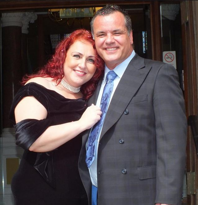 Pleas: Megan's father Martin Stammers with wife Tracy in a picture from Facebook