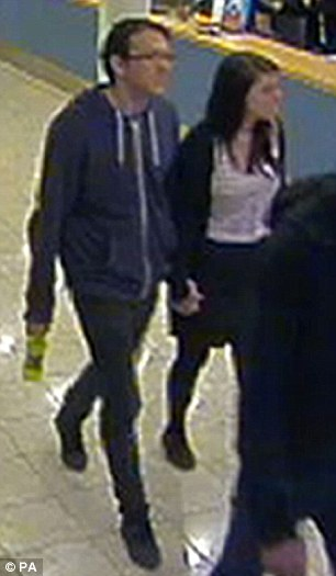 Photo taken from CCTV footage dated September 21 issued by Sussex Police of missing teenager Megan Stammers and her maths teacher Jeremy Forrest, taken on board a ferry from Dover to Calais