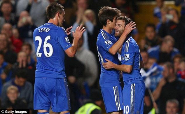 Mata is congratulated