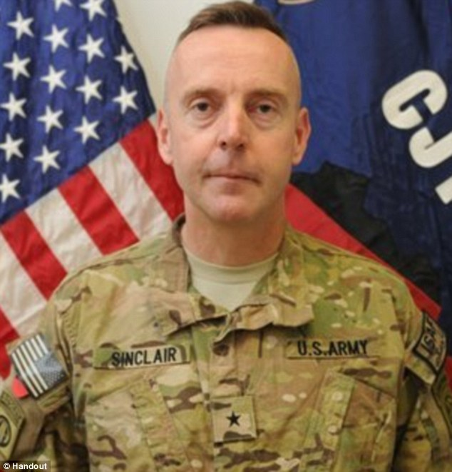 Shroud of secrecy: Brigadier General Jeffrey A Sinclair has been charged with forcible sodomy of female subordinates and was sent home from Afghanistan to Fort Bragg, North Carolina in May