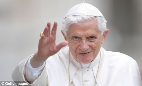 Sadness: Pope Benedict said news of the scandal had 'brought sadness in my heart'. If Gabriele is found guilty, Vatican observers say it is probable that the Pope could pardon him