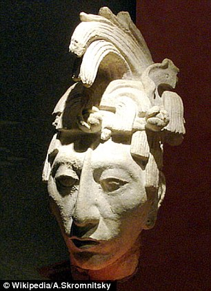 Big plans: Arguing Mayan prophecies beyond 2012, king of Palenque, K'inich Hanaab Pakal, pictured, said he would return to Earth a couple thousands years from now in the future
