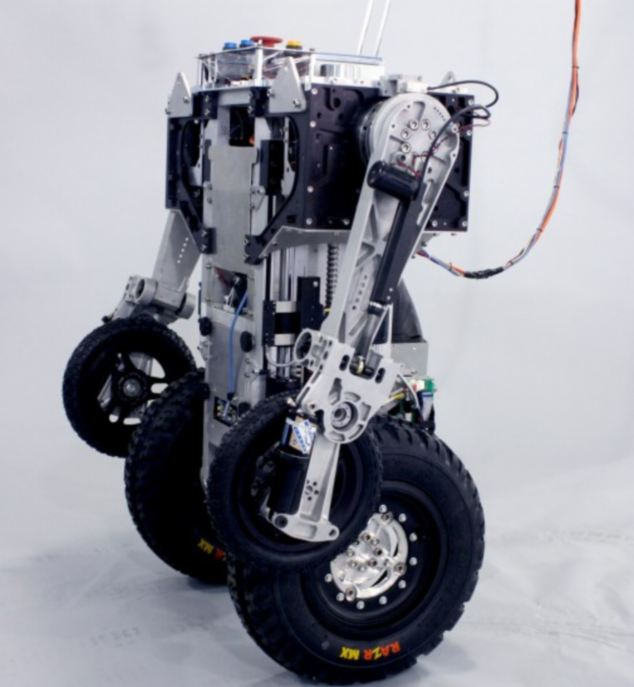 The prototypes have rugged tyres allowing them to go off road while on patrol.