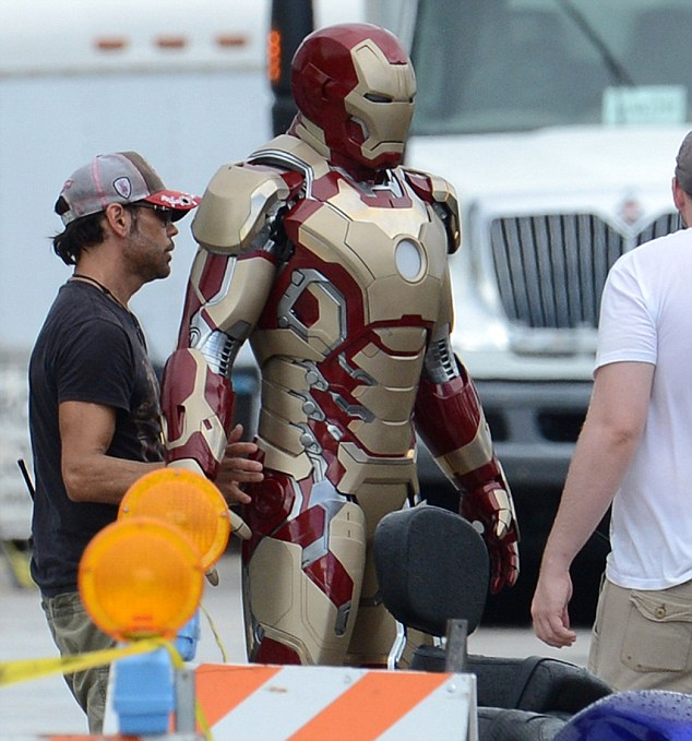 Suiting up: Iron Man 3 is currently filming in Florida after wrapping up in North Carolina