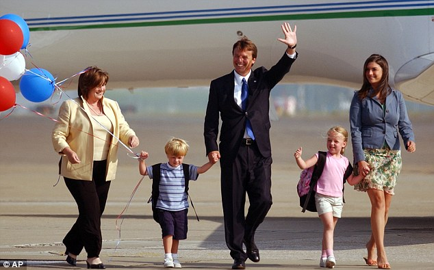 Family man: John Edwards and family in 2004