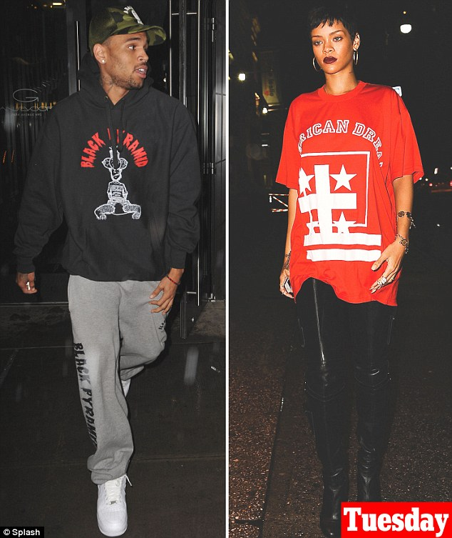 Together again: The pair were seen leaving the hotel after reportedly spending the night together inside