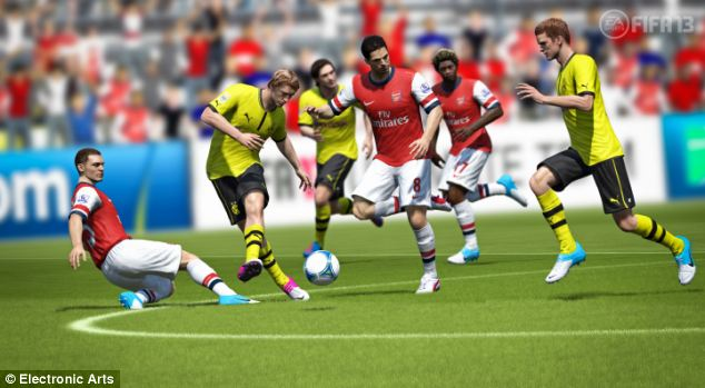The FIFA 13 game features real players and team, and is the bestselling sports game in history.