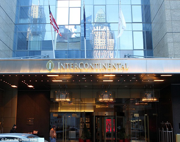 Luxury: Castro and Seabra were staying at the high-end InterContinental Hotel in Manhattan