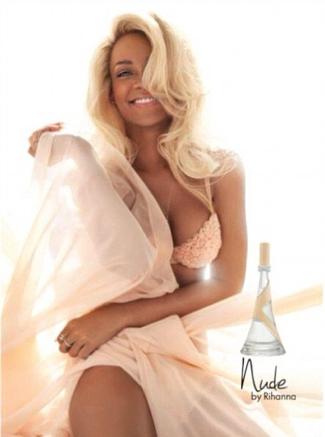 Her latest incarnation: Rihanna tweeted this new ad for her new fragrance 'Nude' on Friday