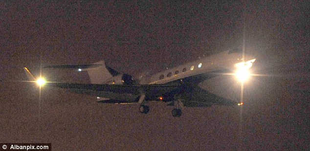 The Gulfstream aircraft believed to contain Cleric Abu Hamza takes off from RAF Mildenhall in Suffolk just hours after he lost his final legal fight to remain in the Britain