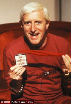The late presenter on his programme Jim'll Fix It