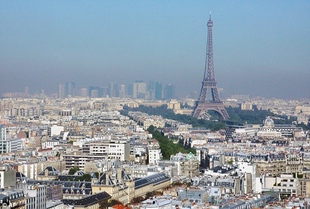 Exodus: The super-wealthy appear to be abandoning Paris (pictured) for wealth-friendly countries. A total of 400 homes worth more than ¿1million in the French capital have been put on the market since May
