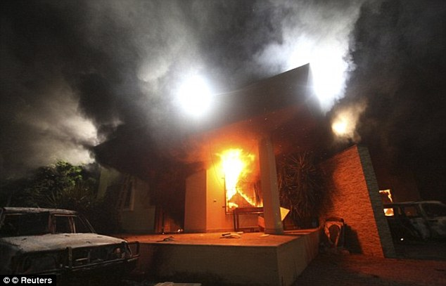Official version: The State Department says the attack on the Benghazi compound was not preceded by protests