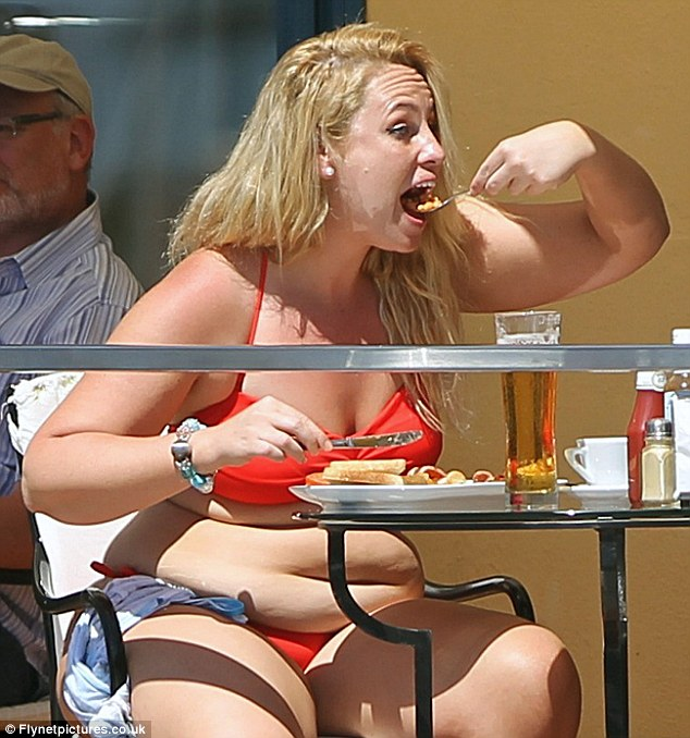 Unrecognisable: The TV star previously described herself as a kebab addict but is now following a healthy regime