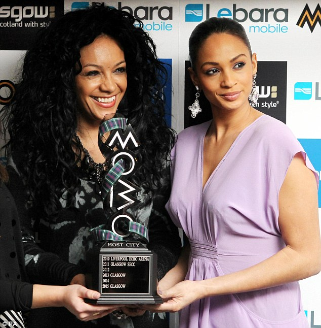 Kanya King, left, with Alesha Dixon, right, announcing that Glasgow would be the host city for the 2011 MOBO awards