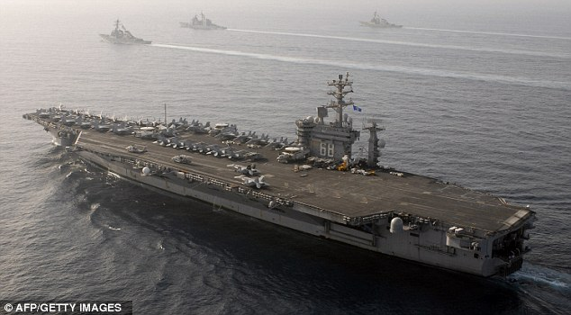 Ash will be tested on board US Navy warships, like the one pictured, early next year