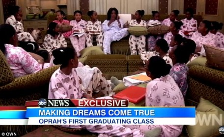 Oprah Winfrey is not mother herself, but thanks to the first graduates of the Oprah Winfrey Leadership Academy for Girls, she said that she now 'gets it'.
