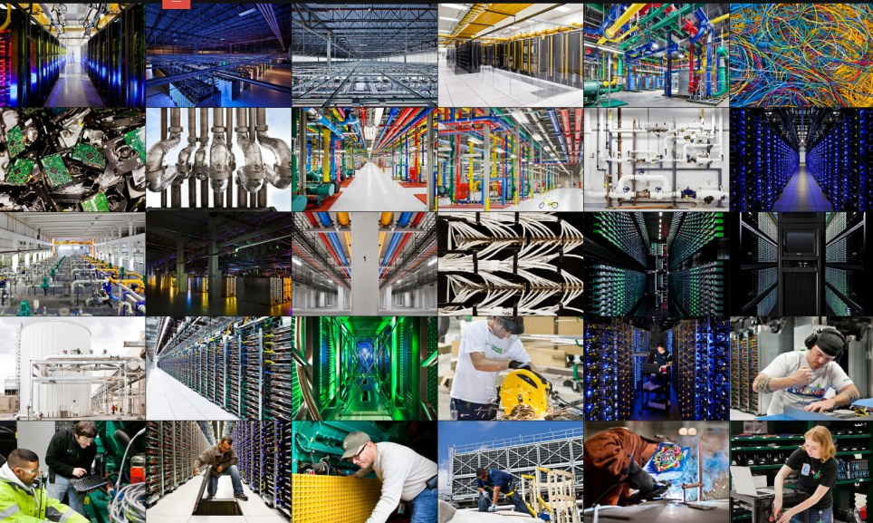 The online gallery reveal the interior of eight of Google's secretive server farms around the globe, from Finland to Iowa