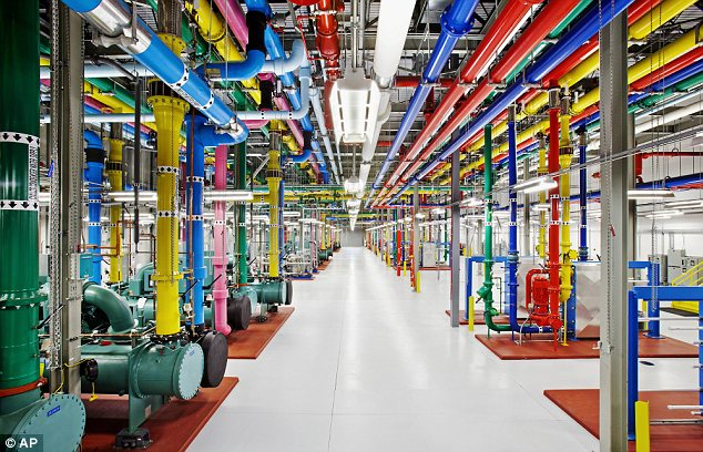 Internal workings: Behind the scenes at Google's data centres. The company suffered a stock market plunge today after years of growth