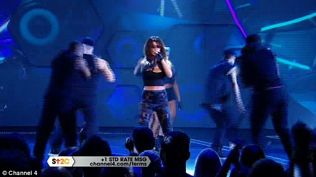 Live TV: Some viewers accused Cheryl of miming