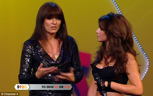 Reassuring: Host Davina McCall attempted to make Cheryl feel better about the awkward situation