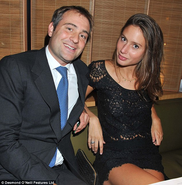 The mastermind: Ben Goldsmith with his new girlfriend Jemima Jones. The stunt was organised through Mr Goldsmith's friends in the entertainment industry