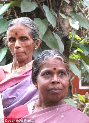 Dedicated: The two women started working as toilet cleaners in South India, in 1971, for 15 Rupees (18p) a month