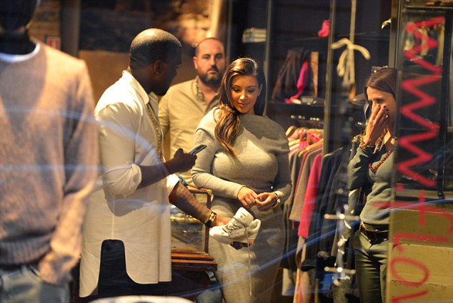 Aren't you bored of that? Kim Kardashian and Kanye West may be in the art renaissance capital of the world but they decided to indulge in yet more shopping rather than visit the many galleries