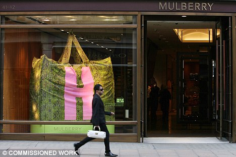 Warning: Iconic fashion retailer Mulberry said that profits would be lower than expected this year