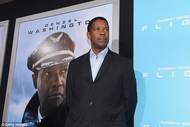 Man of the evening: Denzel Washington stars in the Robert Zemeckis film as commercial airline pilot Whip Whitaker