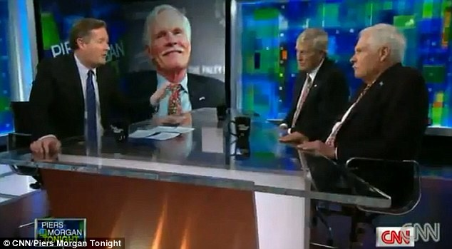 Controversial: The 73-year-old media mogul, pictured right, made the controversial remarks during an appearance on 'Piers Morgan Tonight' last Friday