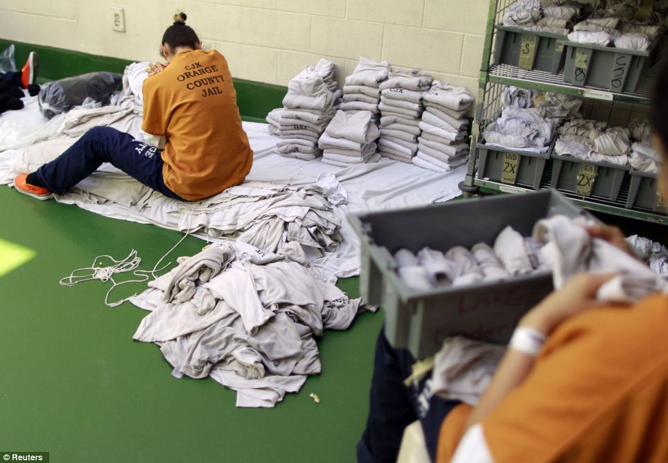 With the American prison system bursting at the seams, these inmates have their work cut trying to sort the ever growing piles of laundry caused by increasing inmate numbers