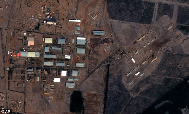 A satellite picture of the military complex after the alleged raid taken on October 25