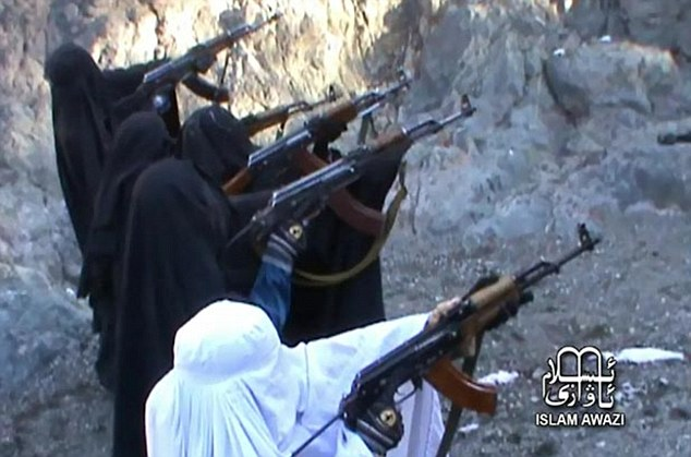 Infiltrators: Terror experts believe the fighters will be used in sneak attacks as soldiers will not suspect women