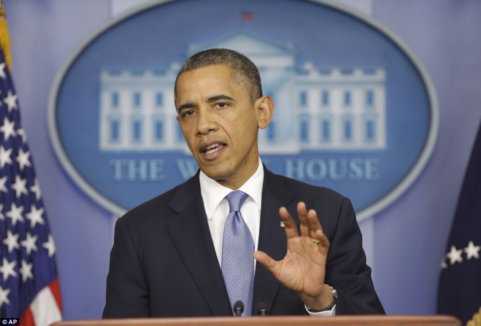 Precaución: Obama advirtió a los ciudadanos que se mantengan alerta durante una conferencia de prensa en la Casa Blanca