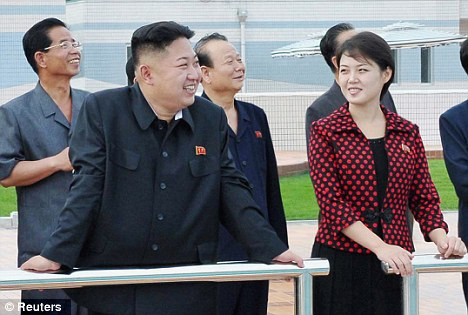 Too cheerful? Analysts think Ri was kept at home because she appeared too 'carefree'
