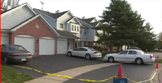 Crime scene: The gruesome discovery of the bloody murders was made at this suburban home in Illinois