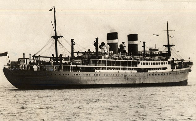 Target: Passenger ship City of Benares was sunk by a German U-Boat in September 1939 as it was taking evacuee children to Canada