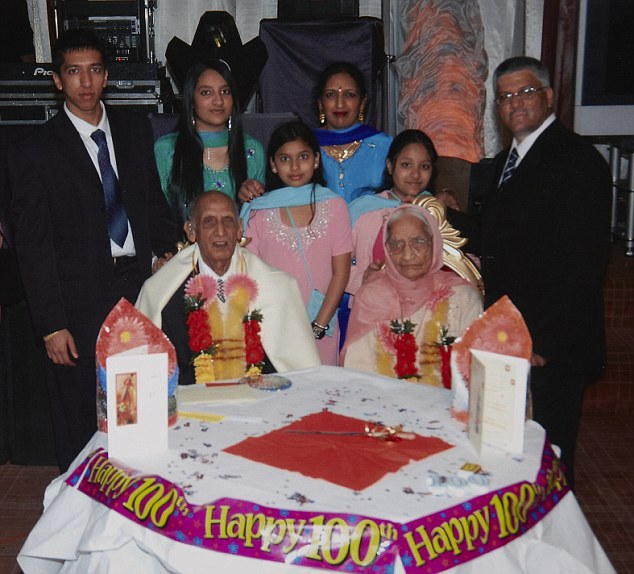 The couple, who are both over 100, have eight children and twenty eight grandchildren together