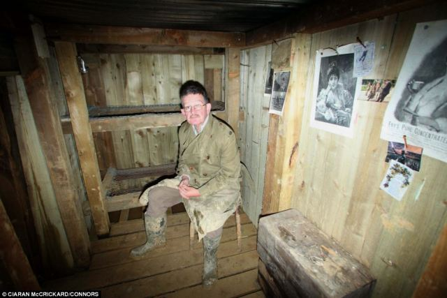 Mr Robertshaw, whose grandfather fought in the war, said he wanted to show how soldiers lived when they weren't fighting