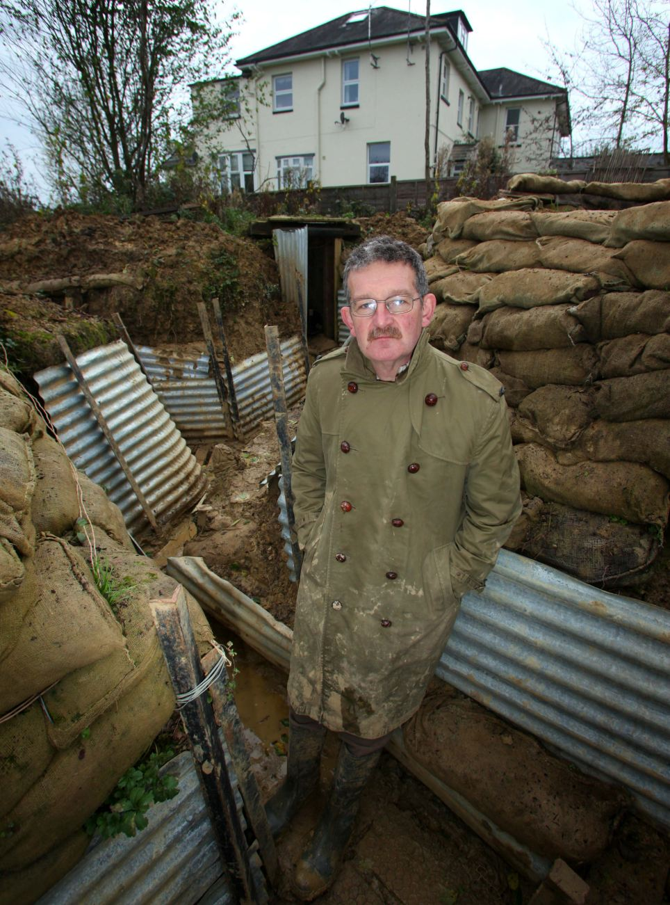 Replica: Mr Robertshaw enlisted the help of volunteers and soldiers from the 23 Pioneer Regiment Royal Logistics Corps for the ambitious project