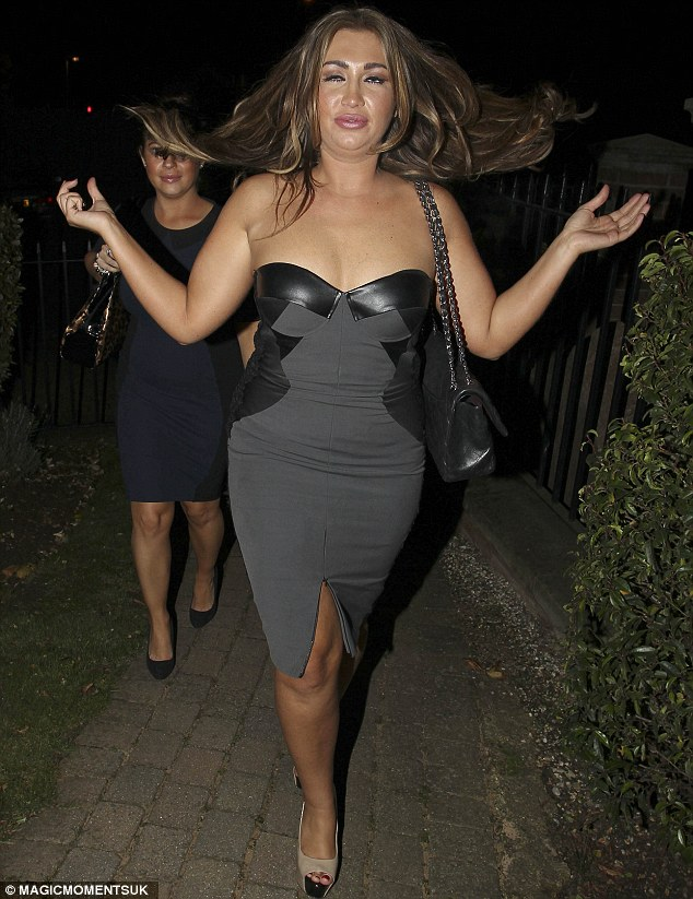 Worse for wear? Lauren Goodger seemed to be somewhat bleary eyed as she left Chloe Sims' 31st birthday party on Friday night