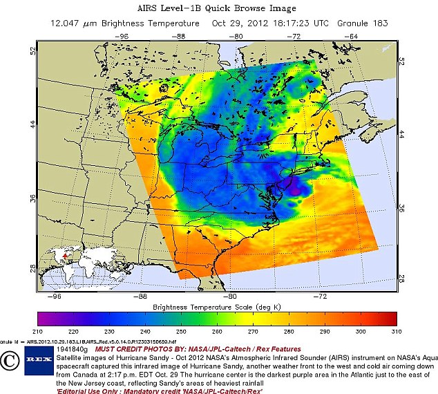 Record-setting storm: Hurricane Sandy was more powerful than Katrina, but its might was more spread out, researchers say